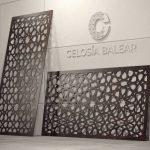 Placa con diseño arábico para fachada exterior