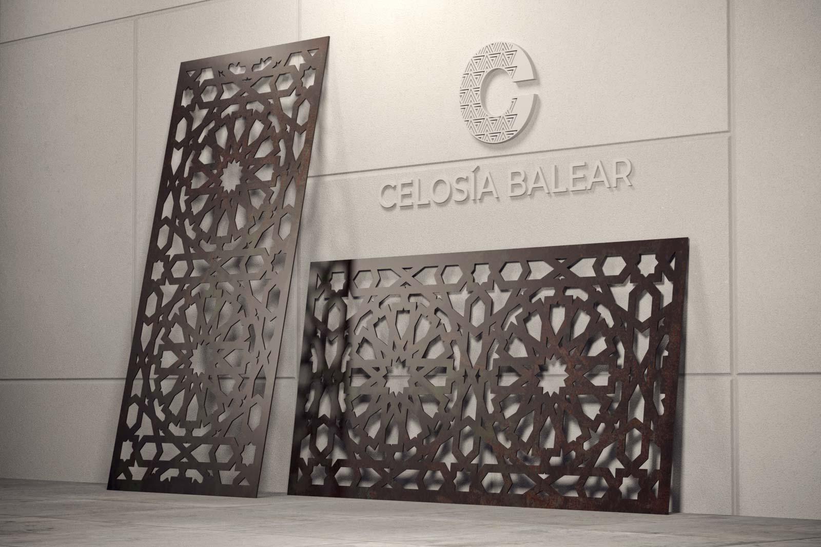 Diseño arábico en celosía de las islas baleares
