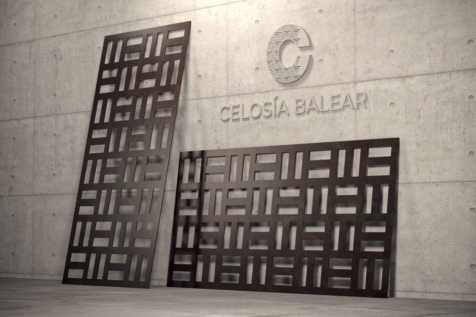 diseño cubista de celosía para interior y exterior