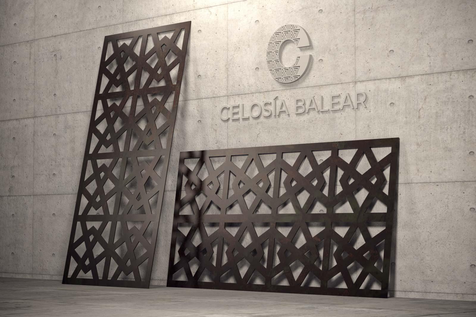 Celosía metálica de la colección cubista