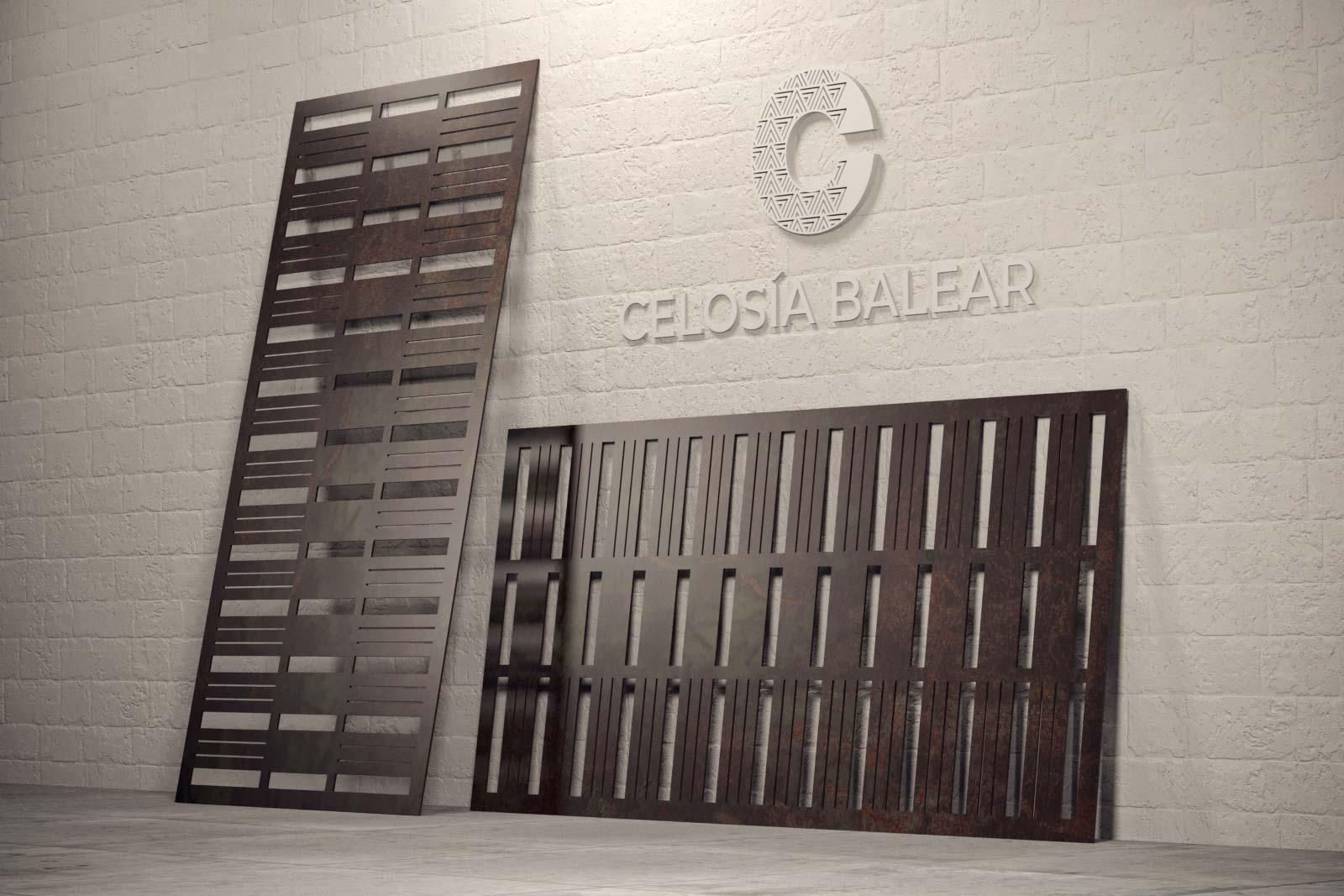 placa de metal con el modelo de líneas
