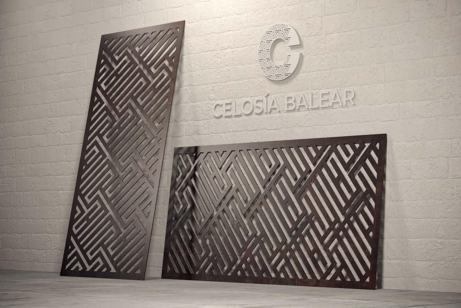 Placa de celosía metálica de la colección líneas