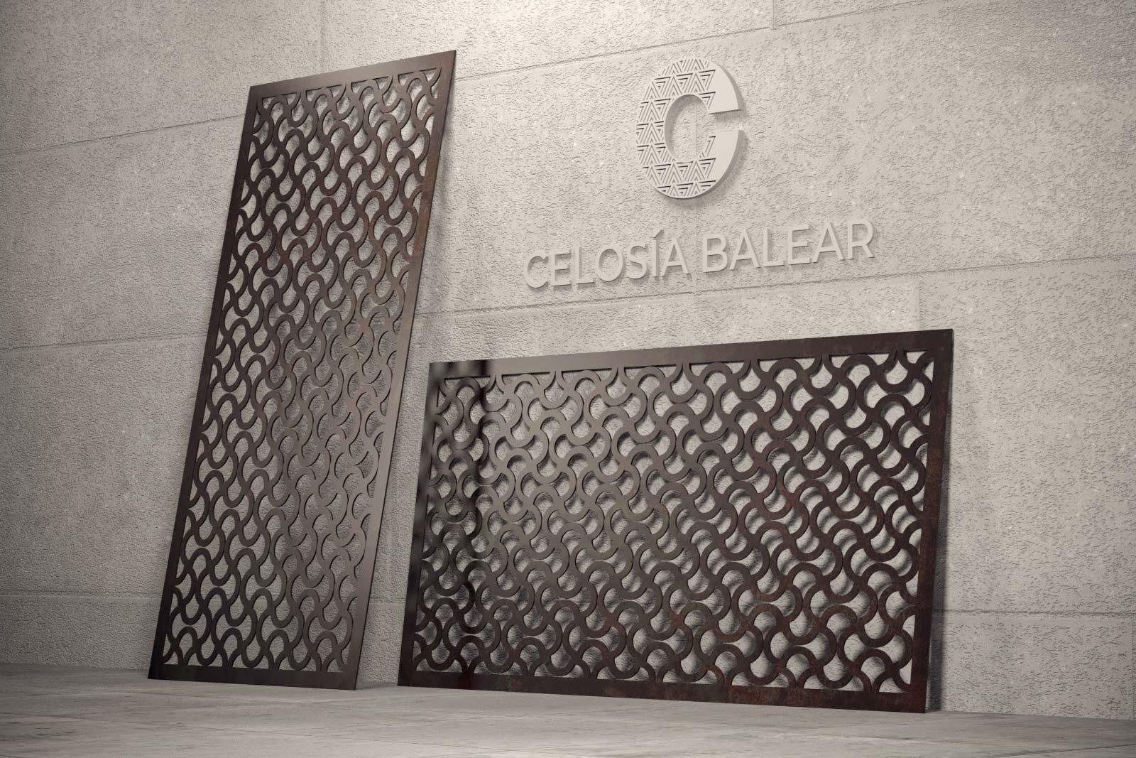 celosías metálicas con estilo vintage en Baleares