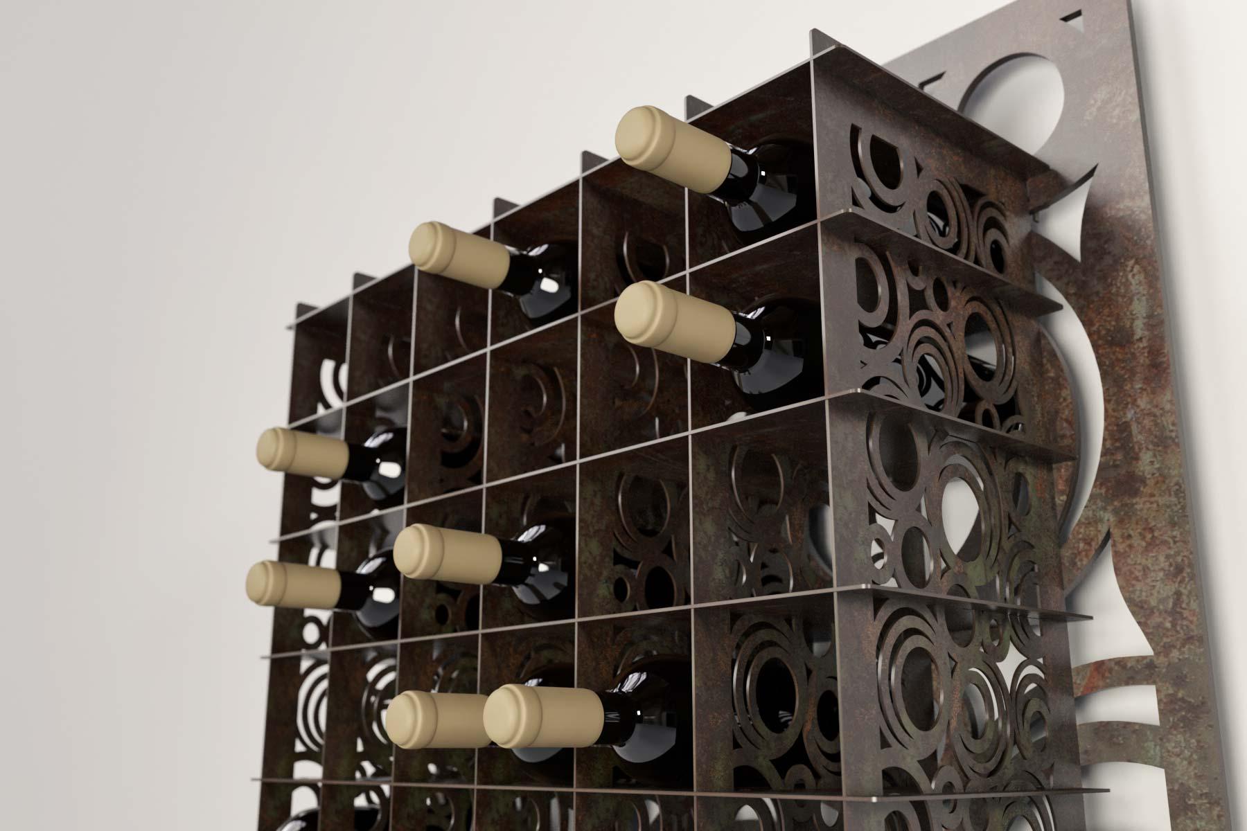 botellero para 30 botellas de vino o cava